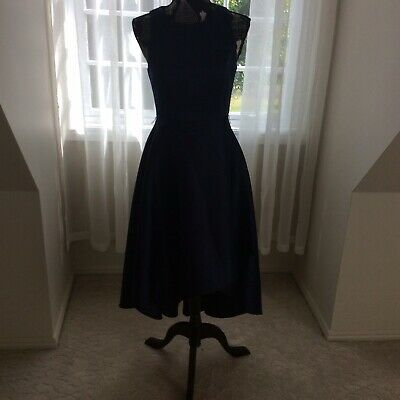 AU17.10 • Buy Ladies Forever New Navy Blue Fit And Flare Midi Dress (Petite- Size 8