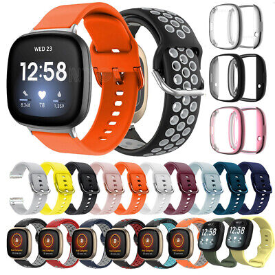 $ CDN6.28 • Buy For Fitbit Versa 3 / Sense Replacement Silicone Watch Wrist Strap Band Wristband