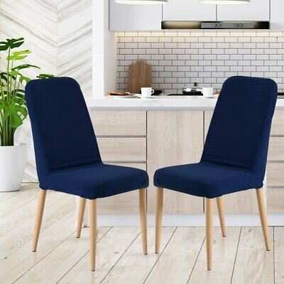 AU24.95 • Buy 2x Dining Chair Covers Spandex Cover Removable Slipcover Banquet Party Navy