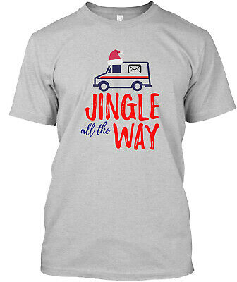 $21.99 • Buy Postal Mail Carrier Jingle All The Way Classic T-Shirt - 100% Cotton