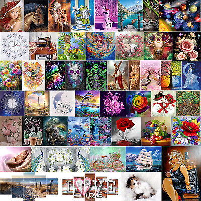 AU7.86 • Buy 5D DIY Full Drill Diamond Painting Kits Embroidery Cross Stitch Home Decor Arts