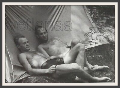 $ CDN6.04 • Buy Beach Buddies Love Camp Affectionate Pose Handsome Men Hairy Chest Old Photo Gay