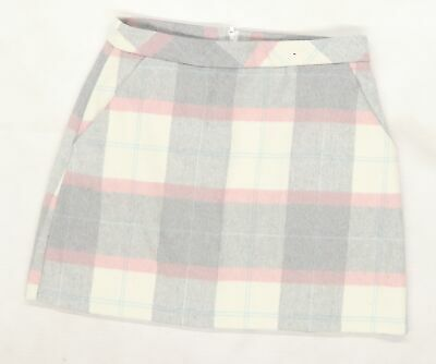 £5 • Buy Primark Womens Grey Check Knit A-Line Skirt Size 10