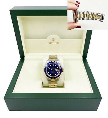 $ CDN14162.80 • Buy Rolex Submariner 16613 Blue Dial 18K Yellow Gold Stainless Steel
