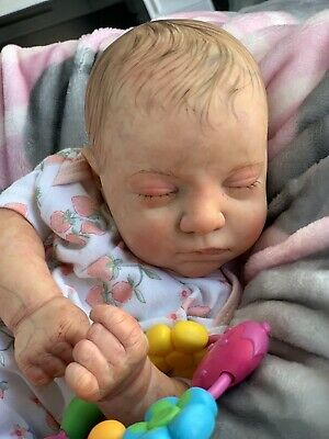 $ CDN163.34 • Buy Ooak Reborn Newborn Baby Girl  Reborn Baby  Miley Art Doll