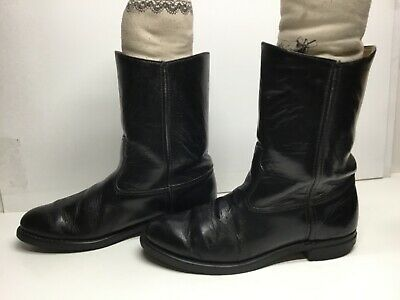 $ CDN26.68 • Buy Vtg Mens Unbranded Work  Black Boots Size 8 D