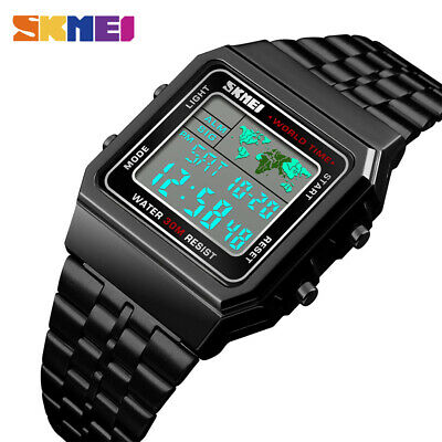 $ CDN15.98 • Buy SKMEI Men Women Sports Watches Waterproof Luxury Casual LED Digital Watch 1338