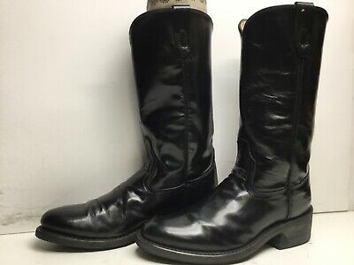 $ CDN26.68 • Buy Vtg Mens Unbranded Work Black Boots Size 7.5 D