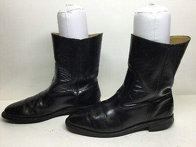 $ CDN26.68 • Buy Vtg Mens Unbranded Cowboy Work Leather Black Boots Size 8 D