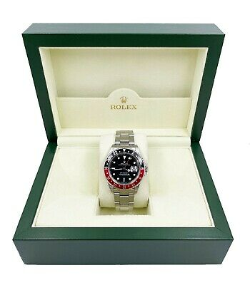 $ CDN15723.31 • Buy Rolex 16710 GMT Master II Coke Red And Black Stainless Steel UNPOLISHED