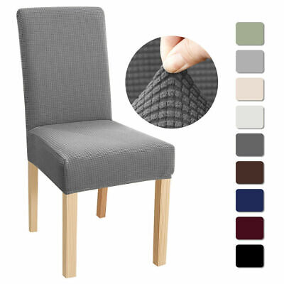 £3.59 • Buy Dining Chair Covers Washable Stretch Chair Slipcover Removable Chair Protectors