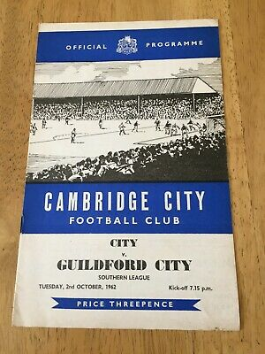 £2.99 • Buy Cambridge City V Guildford City   2nd October 1962   Southern League
