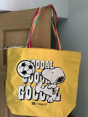 £15 • Buy New Levis X Go Snoopy Yellow Sport Goal Tote Shoulder Bag