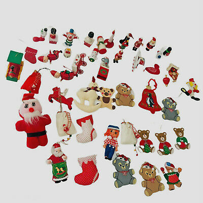 $ CDN29.66 • Buy Vintage Mixed Lot Of 45 Christmas Ornaments Tree Bell Rocking Horse Decorations