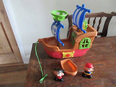 £15.99 • Buy Pirate Ship Pirate Fig Sound Pull/pushalong Cord Wheels Sail Mast Steering Wheel