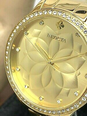 $ CDN72.05 • Buy Invicta Women's Watch 28056 Wildflower Yellow Gold Tone Stainless Steel Quartz