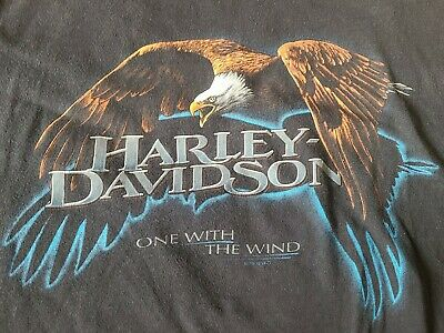 $ CDN48.51 • Buy Vintage Harley-Davidson  One With The Wind  Motorcycle T-Shirt | Men's Size XL