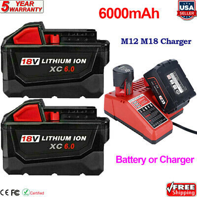 $69.01 • Buy For Milwaukee M18 XC 9.0 AH Extended Lithium-ion Battery 48-11-1890 Fast Charger