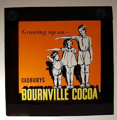 £19.99 • Buy Glass Magic Lantern Slide. Cadbury's Bournville Cocoa. 38