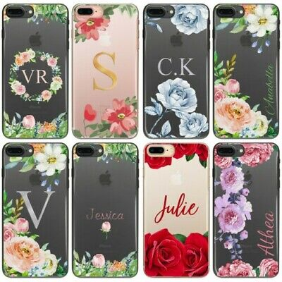 AU15.85 • Buy Rose Initials Phone Case, Personalised Flower/Floral Clear Hard Cover For Google