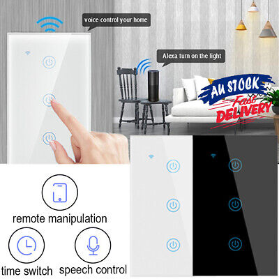 AU25.65 • Buy Compatible With Alexa Google Gang Smart Home Touch Light Wall Switch Panel WiFi