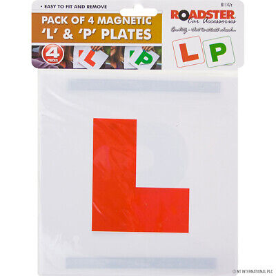£1.99 • Buy 4 X FULLY MAGNETIC L/P PLATES SECURE Quick Easy To Fix Learner Sign