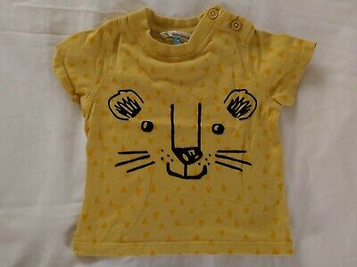 £1.95 • Buy Gorgeous John Lewis Baby Cat Face Short Sleeve Top T-shirt 3-6 Months