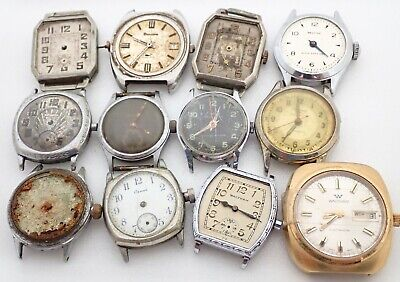 $ CDN16.33 • Buy Lot Of 12 Vintage Mens Swiss Wristwatch Watch Parts Repair
