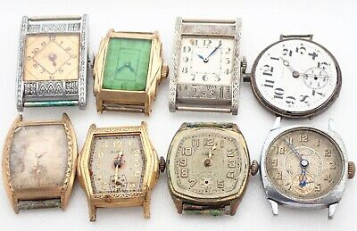 $ CDN12.09 • Buy Lot Of 8 Vintage Mens Swiss Wristwatch Watch Parts Repair