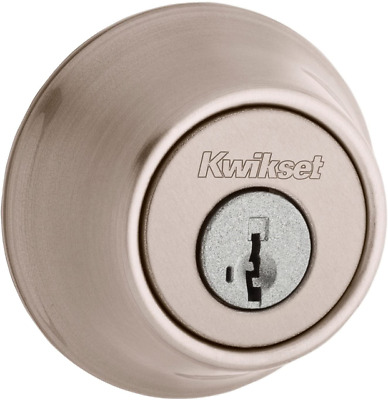 $ CDN15 • Buy Kwikset Satin Nickel Single Cylinder Deadbolt With SmartKey Security 660 15 SMT