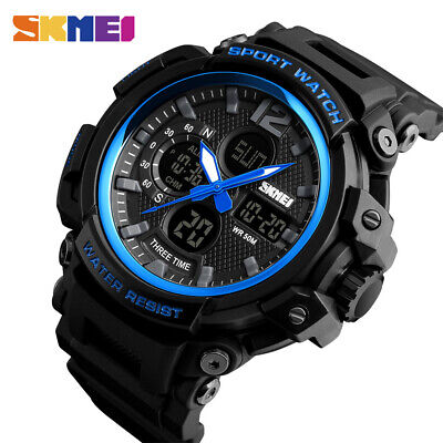 $ CDN16.78 • Buy SKMEI Men Sport Watches Chrono Countdown 50m Waterproof LED Quartz Watch 1343 A