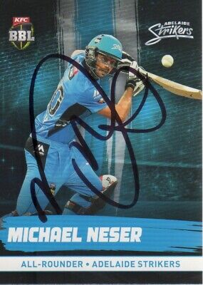 AU3.50 • Buy Michael Neser Hand Signed 2016 Adelaide Strikers BBL Cricket Card