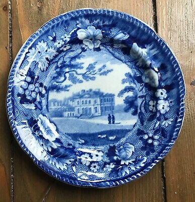 £45 • Buy Antique Pottery Pearlware Blue Transfer Printed Cup Plate Bickley,Kent. C1820