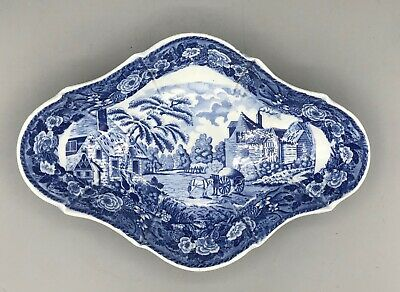 £45 • Buy Antique Pearlware  Minton Blue Transfer Printed  C1820