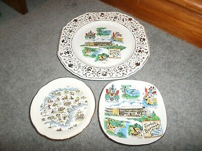 £12 • Buy 3 X Collectors Item - Old Plates - *torbay* X 2 & *devon*
