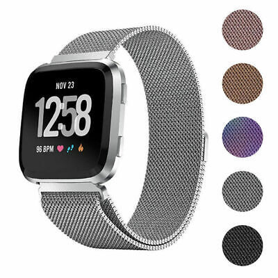 $ CDN8.64 • Buy For Fitbit Versa Strap Replacement Milanese Loop Band Stainless Steel Magnet
