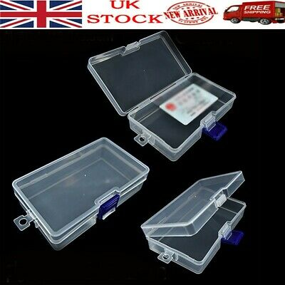£5.59 • Buy Plastic Clear  Storage Box W/ Lid Coins/ID Cards/Bank Cards Collection Organizer