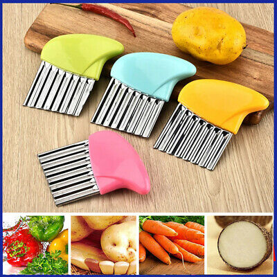 £2.99 • Buy Stainless Steel Potato Chip Salad Vegetable Crinkle Cutter Kitchen Cutting Tool