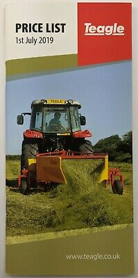 £7 • Buy Original Price List For Teagle Agricultural Equipment, 1-7-2019