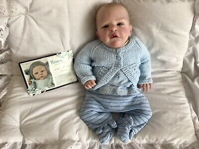 $ CDN167.05 • Buy Reborn Baby Doll Roux By Cassie Brace Limited Edition 39/600 Clothes Included