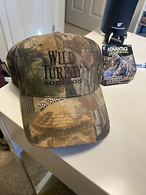 £17.74 • Buy Wild Turkey Bourbon Camouflage Advantage Timber Adjustable Hat Cap New W/Tags