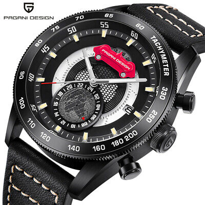 $ CDN91.18 • Buy PAGANI DESIGN Men Watch Earth Pattern Chronograph Quartz Wristwatches Waterproof
