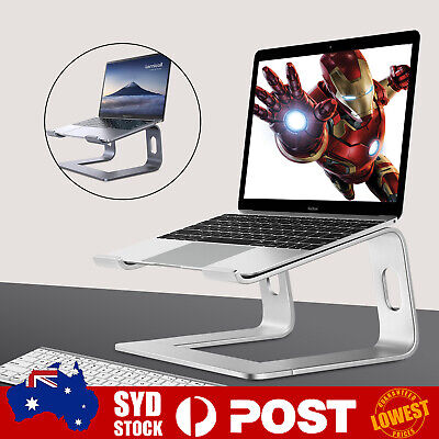 """AU32.59 • Buy Portable Aluminium Laptop Stand Tray Holder Cooling Riser For 10""""-15.6"""" MacBook"""