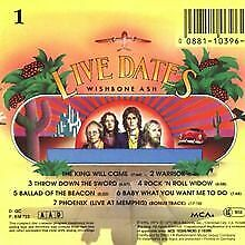 £7.11 • Buy Live Dates By Wishbone Ash   CD   Condition Good