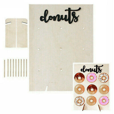 £6.99 • Buy 9 Donut Wall Stand Wooden Doughnut Sweets Candy Birthday Party Wedding Decor UK