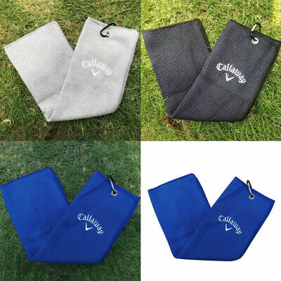 £8.79 • Buy Callaway Tri-fold Golf Clip Towel / Large 16  X 21  Golf Bag Towel / 3 Colours