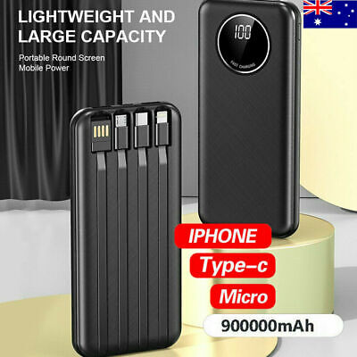 AU27.99 • Buy 2021 900000mAh LCD Portable Power Bank USB Type-C Fast Charge Battery Charger