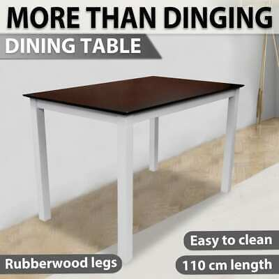 AU129.99 • Buy VidaXL Wooden Dining Table 110cm Kitchen Furniture Rectangular Brown And White