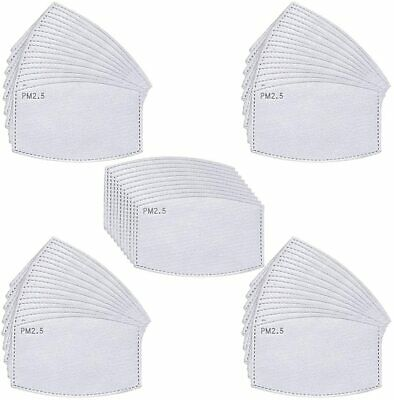 £2.25 • Buy Face Mask PM2.5 Activated Carbon Filter Replace Breath Insert Mask Filters
