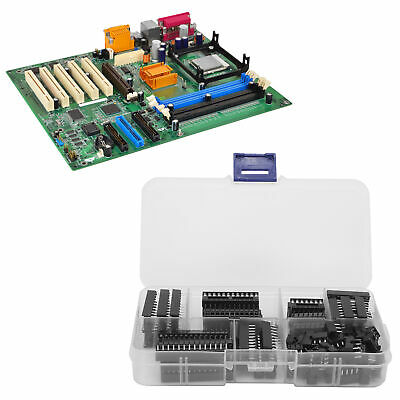 £5.42 • Buy 66Pcs 2.54mm Waterproof IC Chip Socket IC Assortment Kit For Integrated Circuit